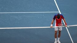 The loss was Djokovic's third defeat in two days and it came less than 24 hours after he was beaten by Alexander Zverev of Germany in the singles semifinals.
