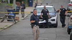 The shooting scene near Corinth and Birch streets in Roslindale Square is under investigation by Boston Police.