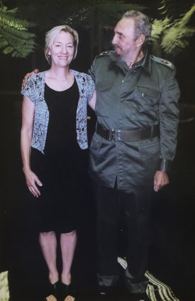 Mrs. Phillips sought Fidel Castro's help in securing documents of Ernest Hemingway.