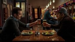 """Jason Sudeikis (left) and Brendan Hunt in """"Ted Lasso."""""""