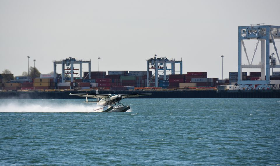 Cape Air officials said they were happy with their first Boston Harbor test flight for a seaplane service they want to bring to the South Boston waterfront.
