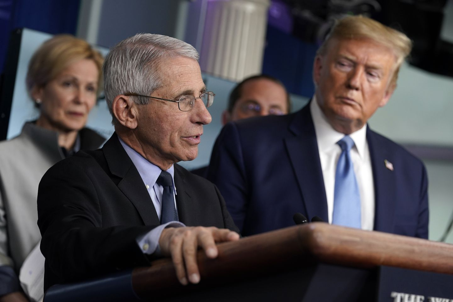 Dr. Anthony Fauci, director of the National Institute of Allergy and Infectious Diseases spoke at the White House Monday.